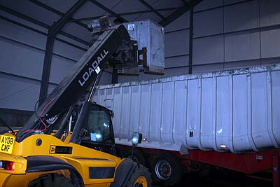 Unloading bins
